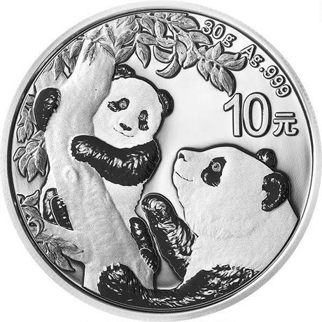 【送料無料】中国銀貨 パンダ コイン 2021 30.0g