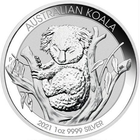【お得!】オーストラリアンシルバー コアラコイン(BU)2021年  1オンス(31.1g) 20枚セット