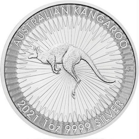 【送料無料】オーストラリアンシルバー カンガルーコイン(BU)2021年  1オンス(約31.1g)