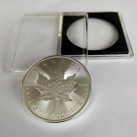 【送料無料】銀貨 メイプルリーフ カナディアンシルバーコイン 2020  1トロイオンス(約31.1g) クリアケース付き