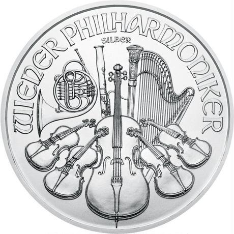 【送料無料】オーストリアン フィルハーモニー銀貨(BU)2021年 1オンス(31.1g)