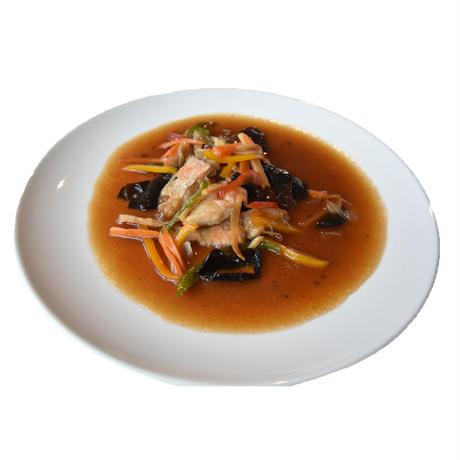 金目鯛の唐揚げ野菜あんかけ