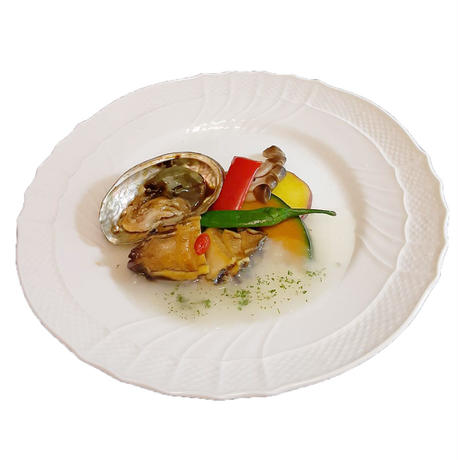 蝦夷鮑の料理 ※鮑の個体差によるが約80g位