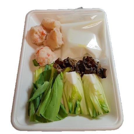 海老団子とチンゲン菜のクリームソース
