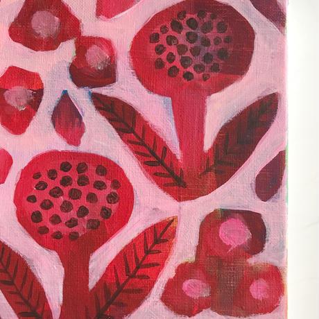 <原画>  赤い花