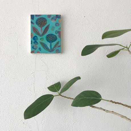 <原画>  青い花