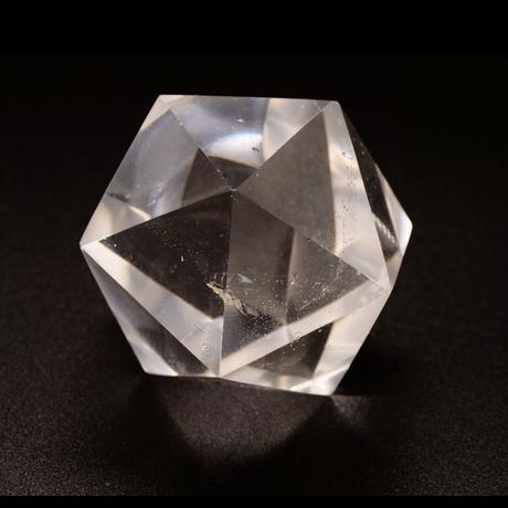 【一点モノ&早い者勝ち!】水晶×神聖幾何学の神秘のパワー!「MIRIAM」厳選☆彡【開運20面体水晶】