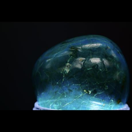 【1点モノ&早い者勝ち!】隠れた結婚運アップの石…☆彡まるで地球を彷彿させるブルー&グリーンの美しいクリスタル☆【高品質「クリソコラ」ハートチャクラヒーリングストーン☆彡】