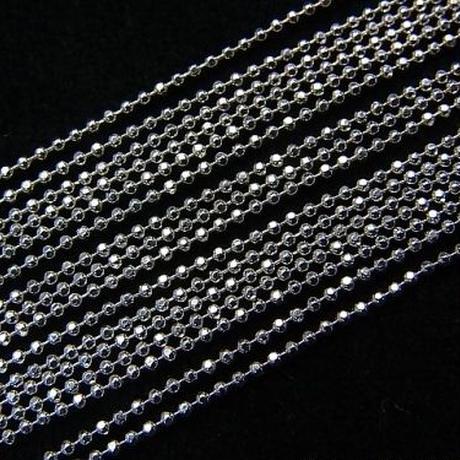 【単品販売】Silver925素材 キラキラした輝きが素肌の上で美しい…!「カットボールチェーン 1.0mm」