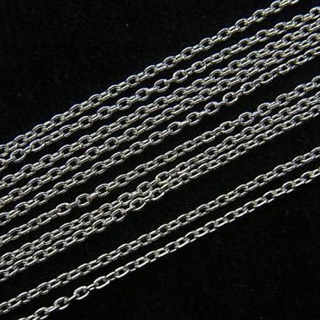 【単品販売】Silver925素材 キラキラしたシルバーが素肌の上で輝き美しい…!「小豆(あずき)チェーン1.3mm」