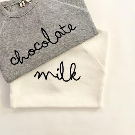 【organic zoo】Natural Milk & Grey Melange Chocolate Bodysuit
