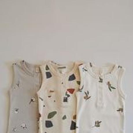 【SBFOZ】Cotton Field sleevless bodysuit