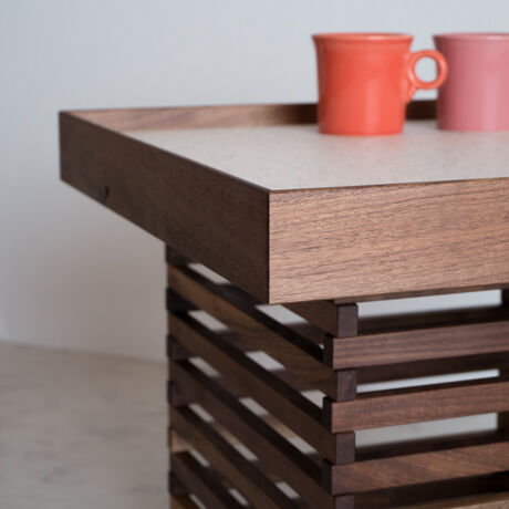 BLACK WALNUT COFFEE TABLE