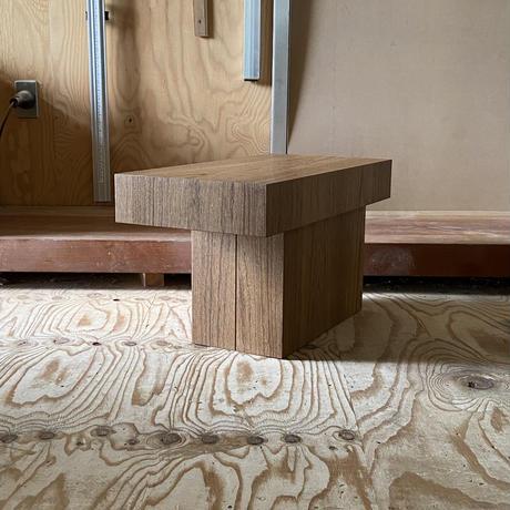 CUBE SIDE TABLE : TEAK