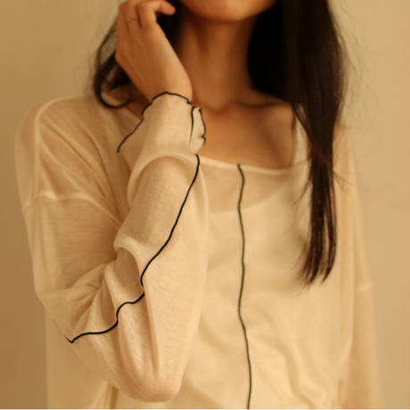 TENCEL CHIFFON PULL OVER(LIGHT GRAY)