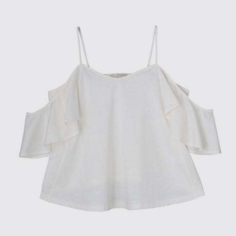SILK OFF SHOULDER   (WHITE)