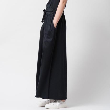 SILK ワイドパンツ / ブラック