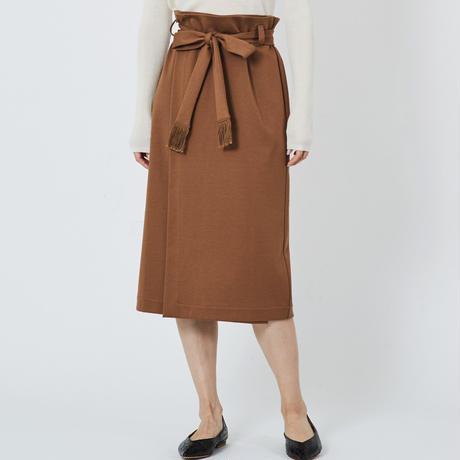 SMOOTH WRAP SKIRT スムースラップスカート(CAMEL)