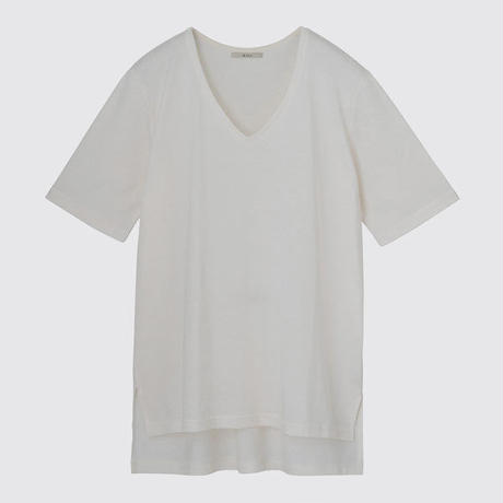 SILK OVERSIZEDE T(OFF WHITE)