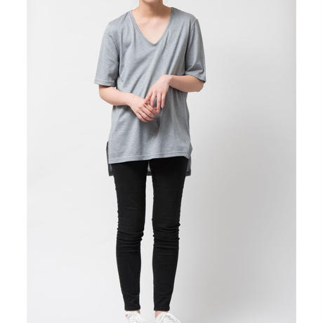 SILK OVERSIZEDE Tシャツ / グレー