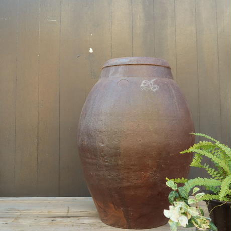 A010 大きく古い水甕/壺 高さ54cm 【引取限定品】
