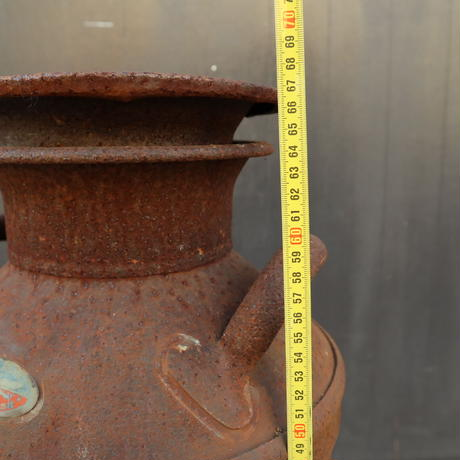 A014 古くて錆のある 鉄製の牛乳缶/ミルク缶 雪印 67㎝ 【引取限定品】