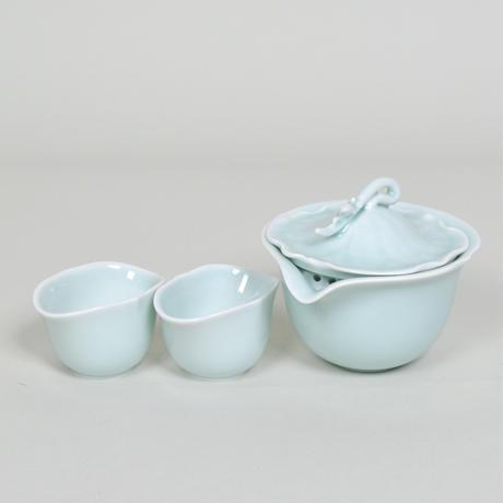 安達窯 夏鳴-茶器セット