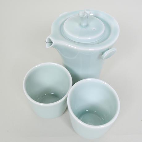 安達窯 森呼吸-茶器セット