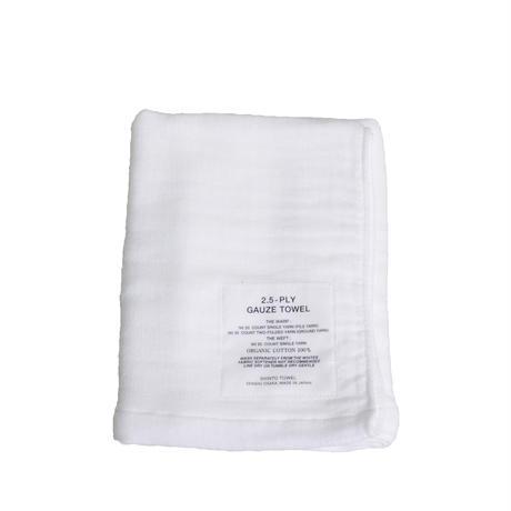 2.5重ガーゼタオル /2.5PLY GAUZE BATH TOWEL/Mホワイト