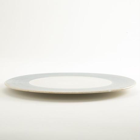 パンとごはんと…  まるい縁取りの陶器  プレートL