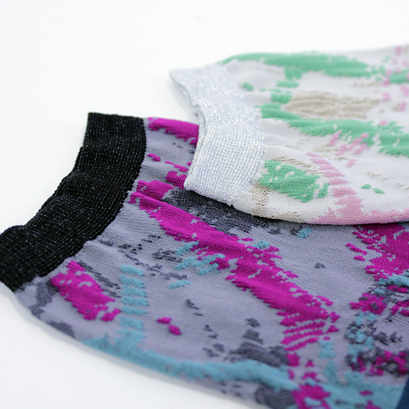 slow cloth socks / ブラック