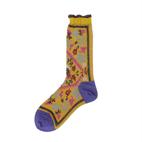 nature rug socks/カーキ