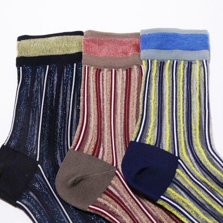 Branch stripe socks/ブルー