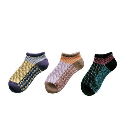 Root block socks/イエロー(CT-19SS-1-A2/YE)