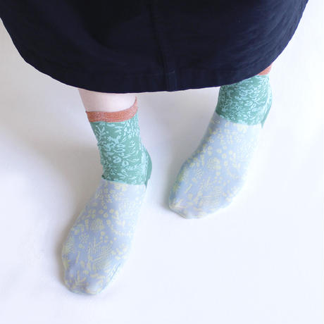 Forest friends socks/グレー