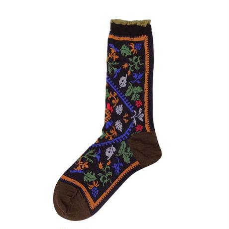 nature rug socks/ブラック