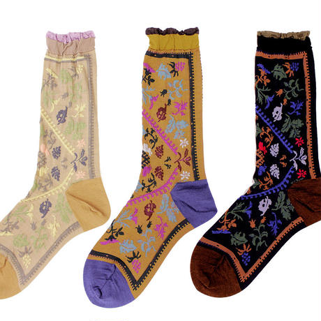 nature rug socks/ベージュ