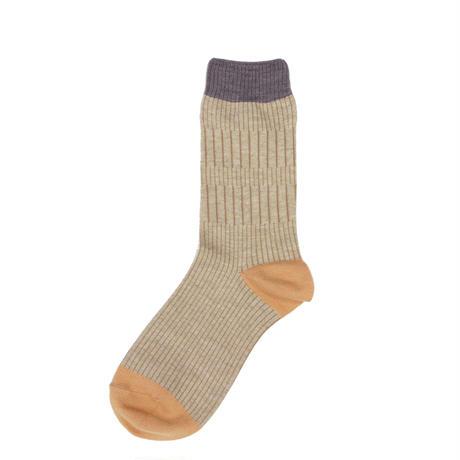 soft rib socks/ベージュ