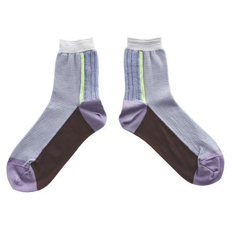 Leaf line socks/グレー