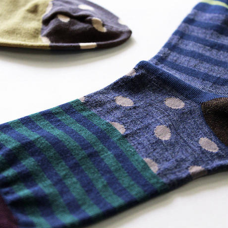 forest border socks/ベージュ(CT-18AW-1-S1/BE)