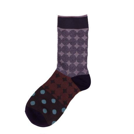 dots & dots socks/ブルー