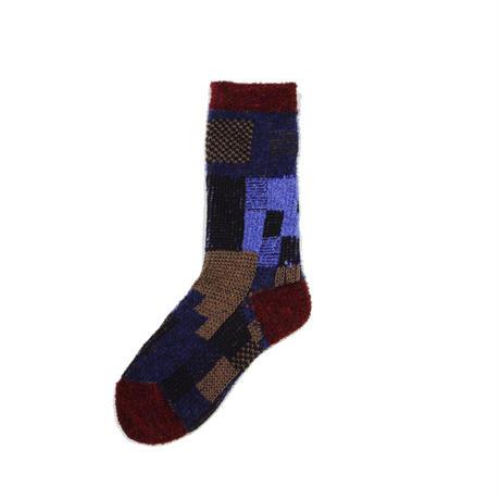 colorful gabbeh socks/ネイビー