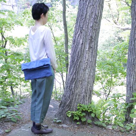 Konbuチェーン付クラッチバッグ/ ブルー