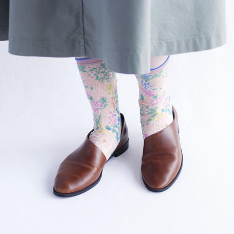 Garden terrace socks/ブラック