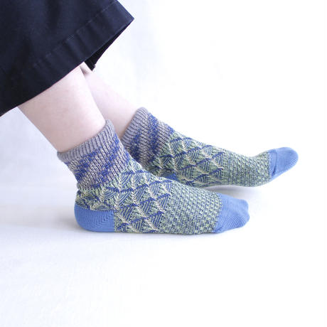 Land layer socks/グレー