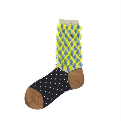 rabbit ears fur socks/グレー