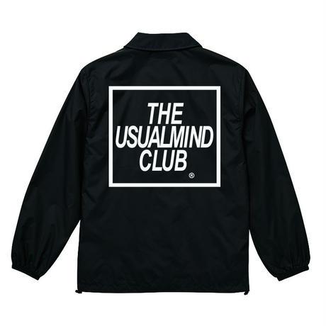 THE USUAL MIND CLUB コーチジャケット ブラック BLACK