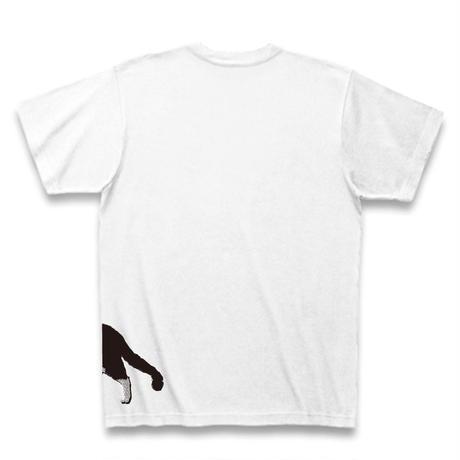 横っ腹に猫 Tシャツ【ホワイト】