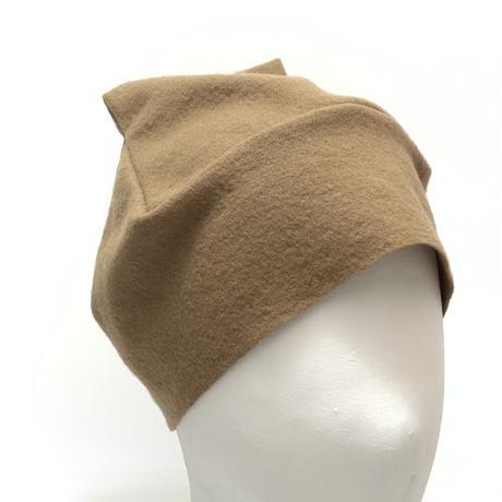 おうち帽     ベージュ・チェック    Mサイズ