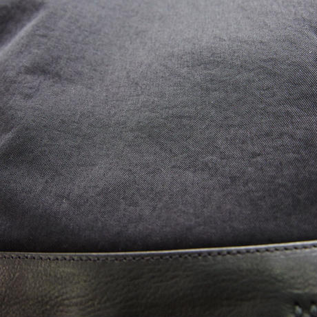 牛革×ナイロン・トートバッグ - Lサイズ・ブラック(GAKBT-L-BK)